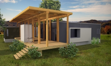 Image of new design to make your small dream home simple with a deck.