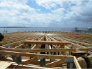 Image of a construction site special floor frame over looking the river