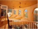 Image of an interior second balcony view