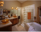 Image of an interior of a beautiful bathroom