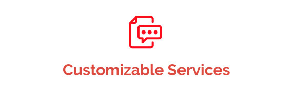 An img of Cuatomizable Services button