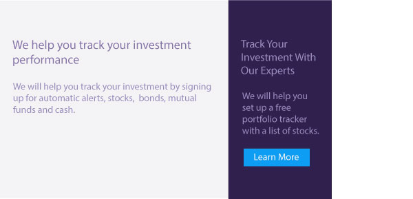 An image of track your investment summary with button