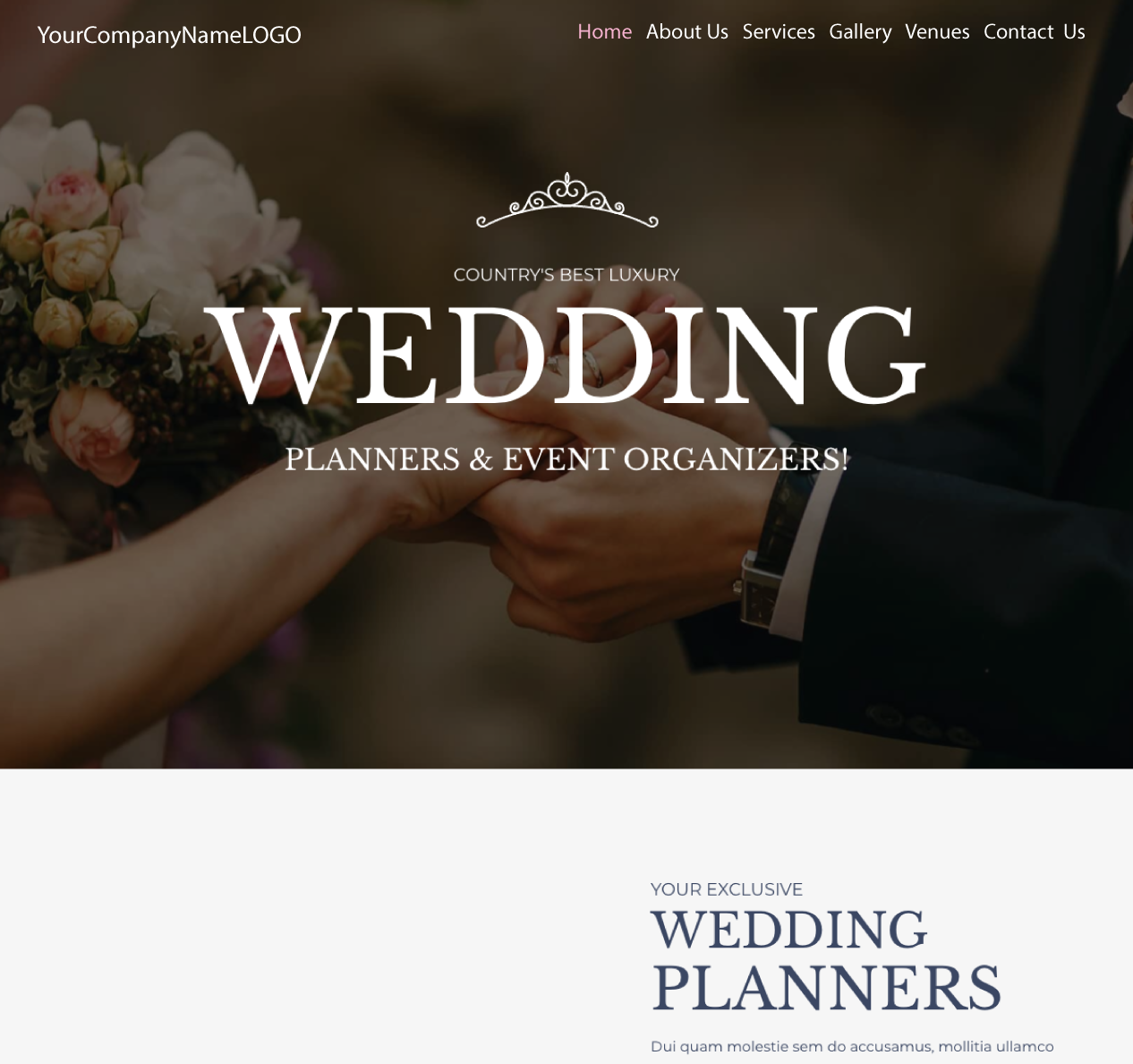 Center Image of Wedding Planner